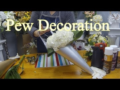 How to Make a Wedding Pew Decoration with Fresh or Silk Flowers