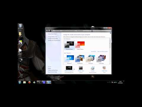 How To Change Your Task Bar To Black w/ Commentary - Windows 7