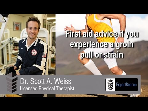 First aid advice if you experience a groin pull or strain