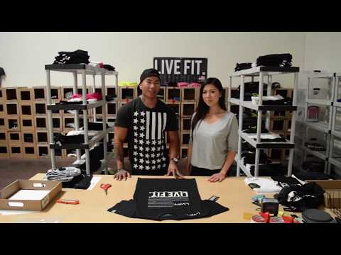 How to cut sleeves off a t shirt with Live Fit Apparel (LVFT)