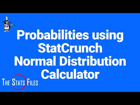 Find probabilities using normal distribution   StatCrunch calculator