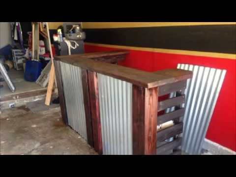 Bar built from pallets