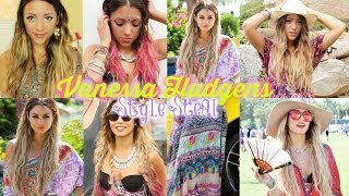 "Celeb Style Steal: Vanessa Hudgens ""Boho"" Coachella outfits, hair + make-up!"