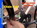 If adjusting the limiting screw fails to eliminate chain rub