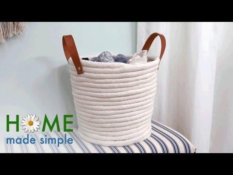 DIY Coil Rope Basket | Home Made Simple | Oprah Winfrey Network