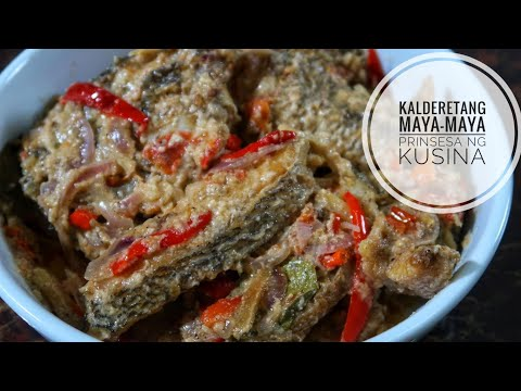 Kalderetang Maya-Maya (Fish Caldereta)