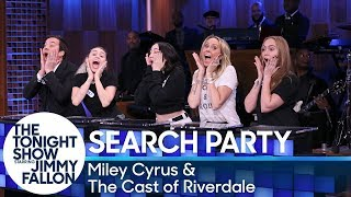 Search Party with Miley Cyrus and the Cast of Riverdale