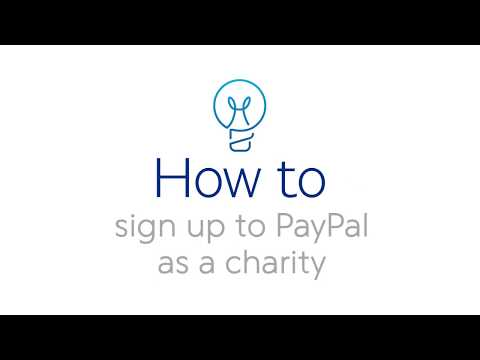 How to sign up to PayPal as a charity
