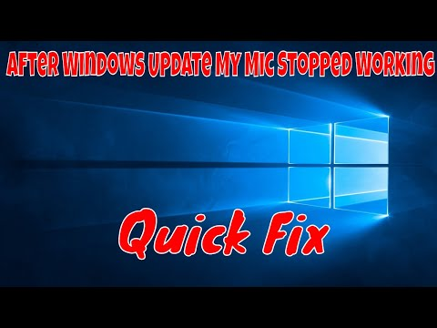 (How To Fix) My Mic stopped working after Windows update.