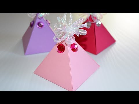 How to Make a Gift Box - DIY Pyramid Box EASY