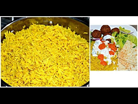 [NEW YORK] HALAL Cart  Rice | New York Halal Cart Recipe | Halal Yellow Rice