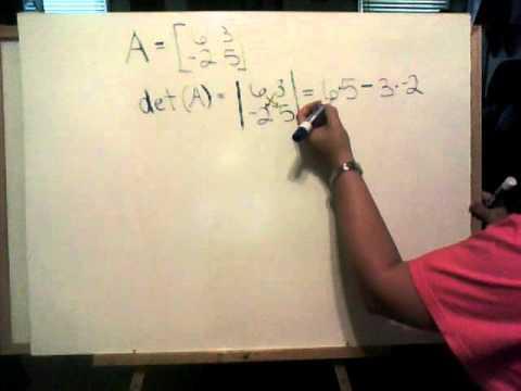 Determining the Determinant of a 2x2 Matrix.wmv