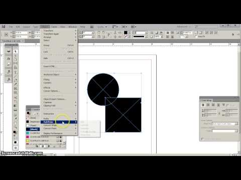 Combine and Minus Shapes in InDesign