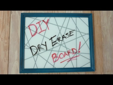 DIY Glass Dry Erase Board (Using Old Picture Frame)
