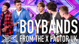 TOP Boybands from The X Factor UK | Including The First Kings, 5AM, District3 & MORE!