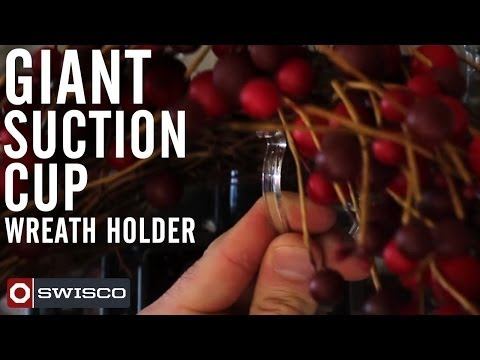 SWISCO Giant Suction Cup Wreath Holder