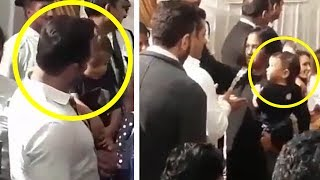 INSIDE Video - Salman Khan Playing With Cute Ahil At Baba Siddiqui Iftar Party 2017