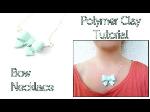 Polymer Clay Jewelry Tutorial - How To Make A Cute Bow Necklace