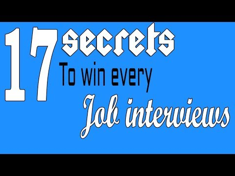 Job interview tips - 17 secrets to win every job interviews