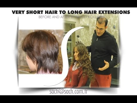 How To Do Hair Extensions On  Very Short Hair  Getting Hair Extensions Course Turkey