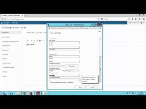 how to configure mail enabled user in exchange server 2013