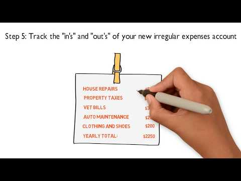 5 Steps to Managing Your Irregular Expenses