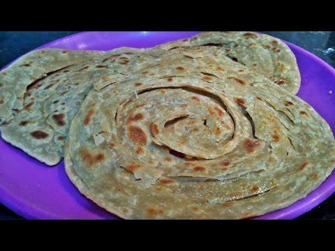 Whole wheat Lachha Paratha - Kerala Parotta (Wheat) - Malabar Paratha - Indian flat bread