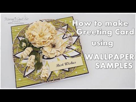 Greeting Card using WALLPAPER samples ♡ Maremi's Small Art ♡