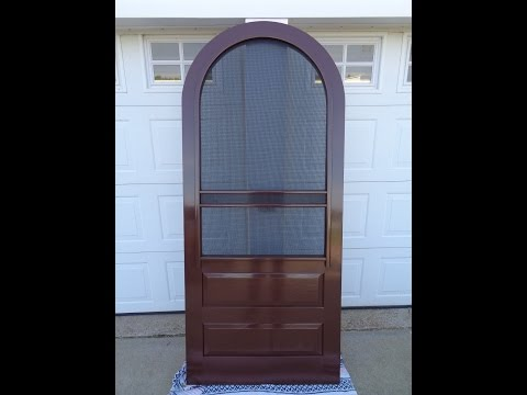 how to construct a round (arch) top screen door