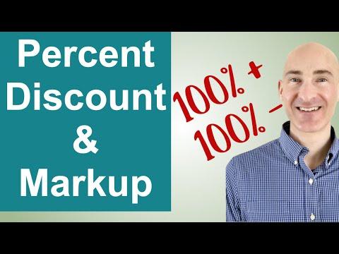 Percent Discount and Percent Markup Examples