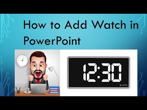 How add #Clock in Powerpoint