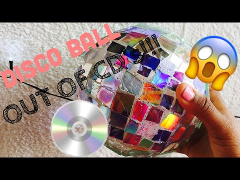 DIY DISCO BALL OUT OF CD's!!!💿