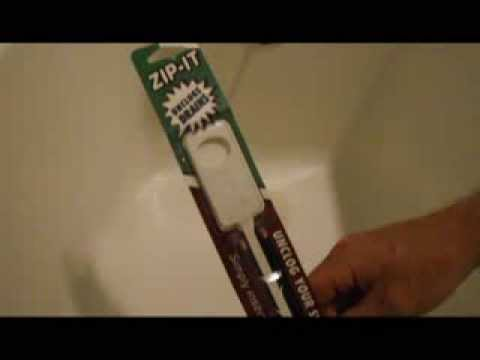 DIY - How to unclog your drain with the Zip-It tool