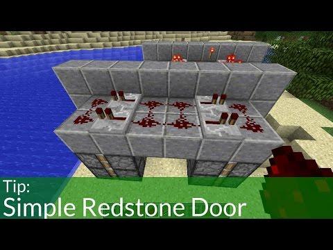 How To Make A Simple Minecraft Redstone Door (Jeb Door)