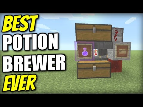Minecraft PS4 -AUTOMATIC POTION BREWER [ BEST EVER ] Redstone Tutorial - PE / Xbox / PS3 / Wii U