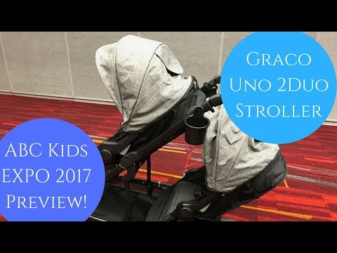 NEW! GRACO UNO 2 DUO Stroller PREVIEW -  ABC KIDS EXPO 17