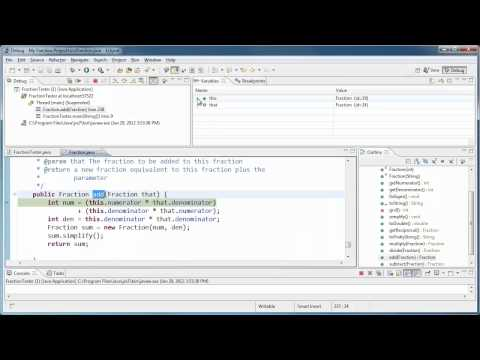 Using the Eclipse Debugger