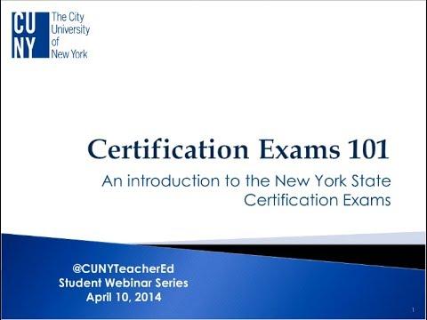 Teacher Ed Webinar: Getting Certified