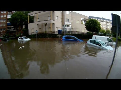 Madrid flooded after heavy rain in Spain 06.07.2017