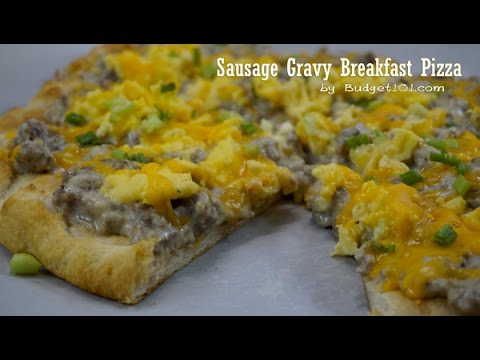 B101 Sausage Gravy Breakfast Pizza Recipe