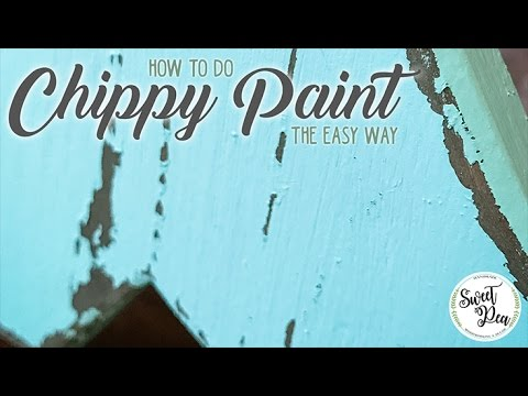 Easy Chippy Distressed Paint with Just Latex Paint and a Scentsy!