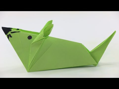 How to make a Paper mouse | Origami Mouse | Origami Animals|Cute Origami Mouse Easy Origami for Kids
