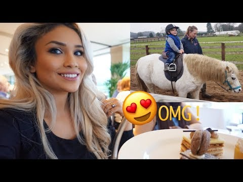 MY TODDLER RIDES A PONY, AFTERNOON TEA & UNI REUNION