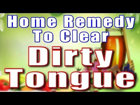 HOME REMEDY TO CLEAR DIRTY TONGUE II मैली जीभ का घरेलू उपचार