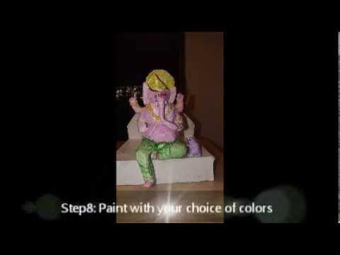 Make Ganesh Idol at home