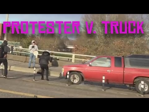 Protester V. Truck