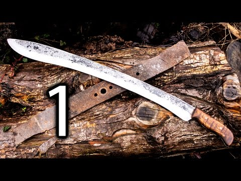 Forging a Kopis Short Sword Out of a Lawnmower Blade Part 1 - Forging the Blade