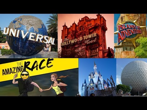 Amazing Race Through Disney, Universal Studios, EPCOT, Hollywood Studios | One year vlogiversary