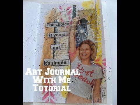 Art journal with me/ How to art journal tutorial / Art journaling for beginners