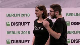 Spike Diabetes Assistant presents in the Startup Battlefield Finals at Disrupt Berlin